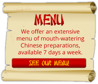 We offer an extensive menu of mouth-watering Chinese preparations, available 7 days a week. |See Our Menu!